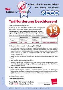 Tarifforderung SpedLog DHL Delivery