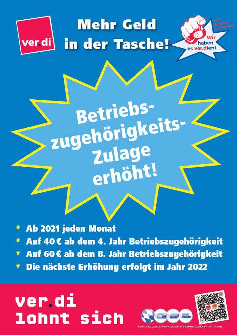 Betriebszugehörigkeits-Zulage SpedLog